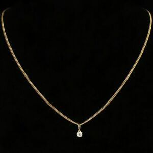 0-50-ct-Round-Cut-Diamond-Solitaire-Pendant-With-18-034-Chain-In-14k-Yellow-Gold-Fn