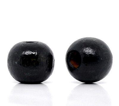 200 Perles Intercalaires Bois Teintée 10x9mm M0219