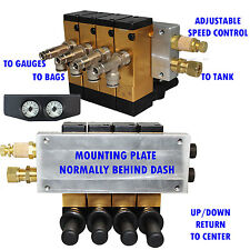 """Air Ride Suspension Manifold Valve 3/8""""npt Manual Air Bag Control fbss 200psi x"""
