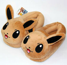 """3D Eevee Pokemon Animal Doll Thick Cotton-padded Slippers Shoes Plush Stuff 11"""""""