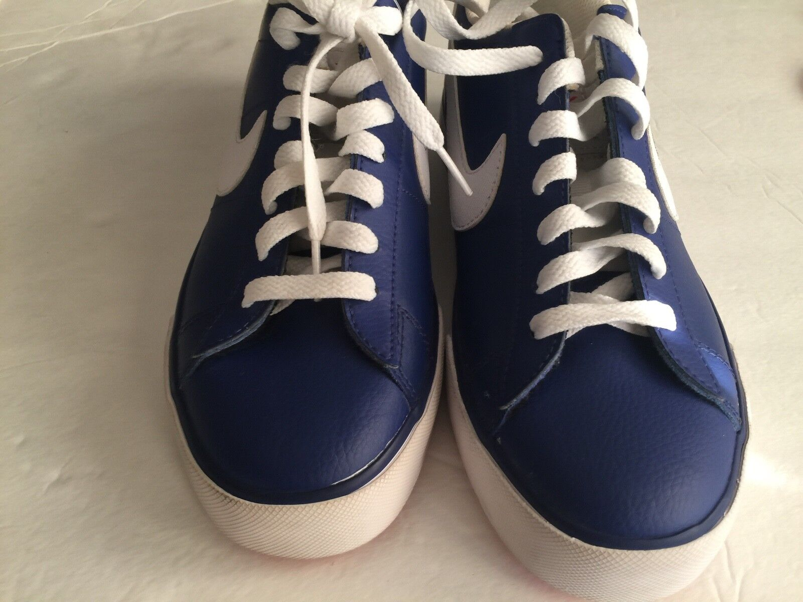 NIKE MEN 8  SWEET CLASSIC LEATHER SHOES BLUE white 318333-413 new The latest discount shoes for men and women