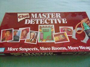 Vintage-1988-Parker-Brothers-Clue-Master-Detective-Board-Game-Complete