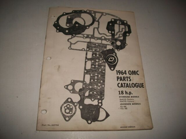 1964 JOHNSON & EVINRUDE 18 HP OUTBOARD PARTS LIST 18402D