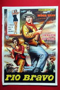 RIO BRAVO JOHN WAYNE 1959 Ricky Nelson WESTERN unico RARO exyu MOVIE POSTER
