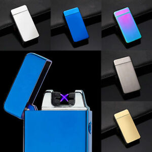 2019 USB Rechargeable Winproof 7 Col Electric Double Arc Plasma / Spiral Lighter