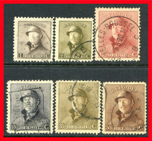 Belgium Postage Stamps Scott 124 133 Used Partial Set B1000 Ebay