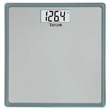 Taylor Precision Products Glass Digital Bath Scale (Grey/Blue), New, Free Shippi