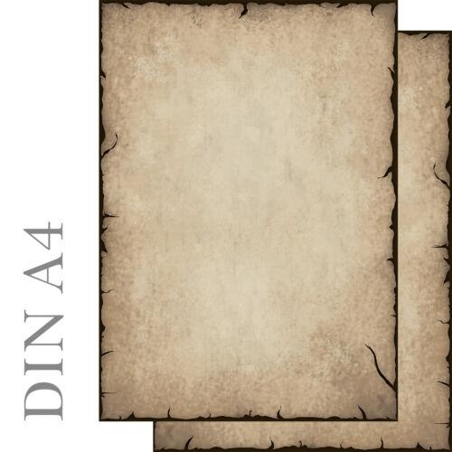 Motivpapier Briefpapier antik altes Papier beidseitig 100 Blatt A4 History alt