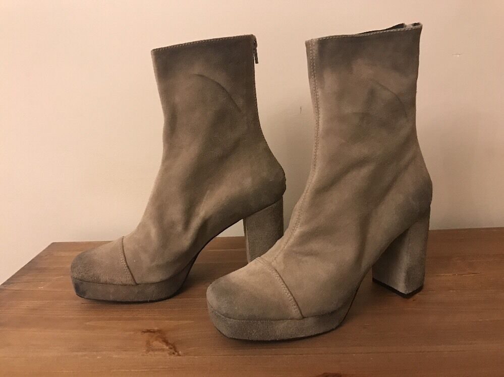 Free People Day For Night Platform Ankle Boot New Size 9 New Boot MSRP:  228 Suede 9eec95