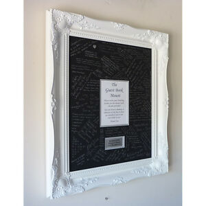 White Luxury Wedding Guest Signing Frame Large Baroque Style