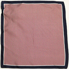 New Jane Carr 100/% Silk Made in Italy Navy The Python Pocket Square