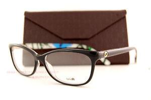 Brand New GUCCI Eyeglass Frames 3699/N Z96 Black/Flower ...