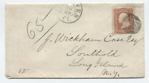 1860s-New-Haven-CT-65-star-of-david-fancy-cancel-cover-y3321