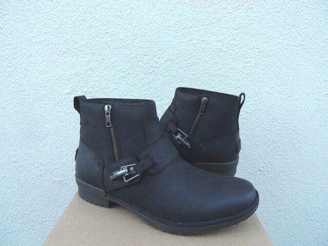 UGG Cheyne Black Leather Sheepskin