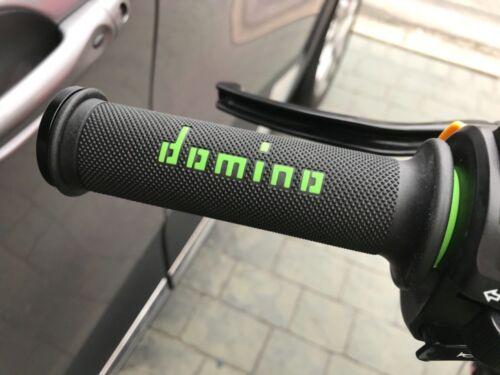 Universal Domino Black Green XM2 Motorcycle Race Grips Track Bike Streetfighter
