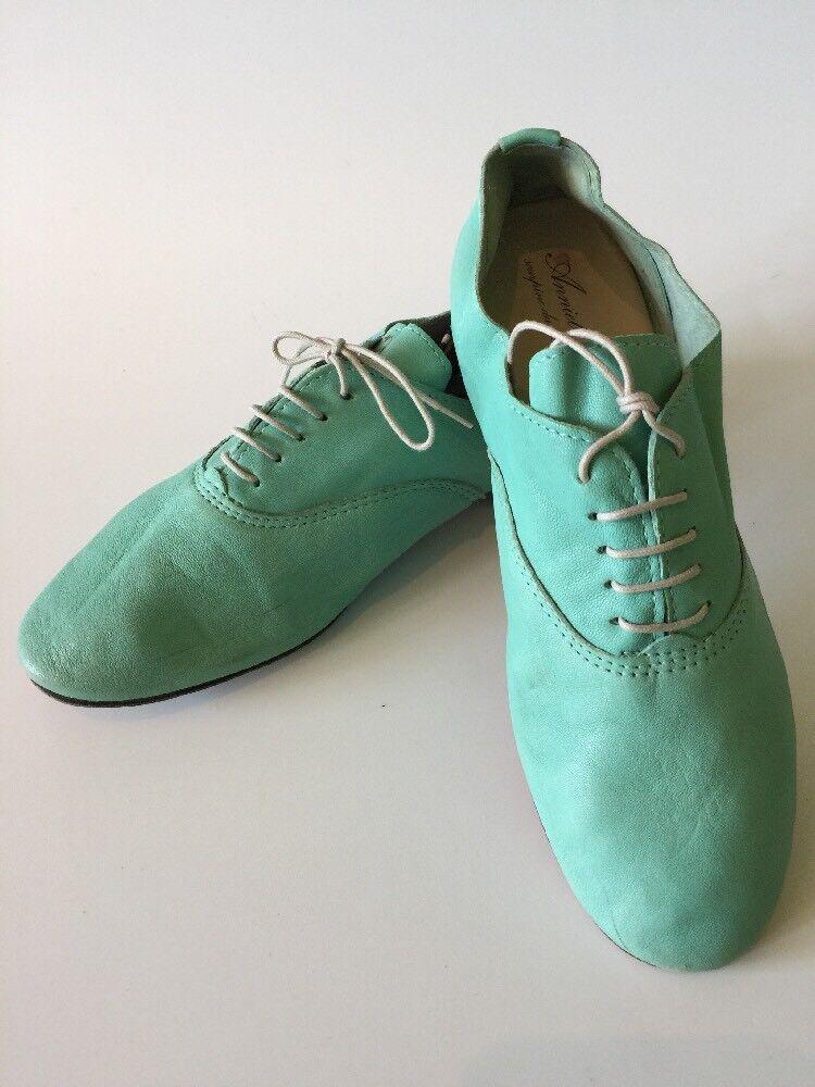Seafoam Derby verde Oxford Pelle Anniel Ballet Derby Seafoam Oxford verde Scarpe 05bbd0