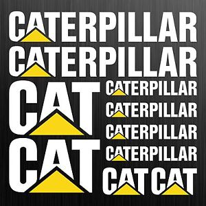Caterpillar-CAT-XL-aufkleber-sticker-bagger-excavator-10-Stucke-Pieces