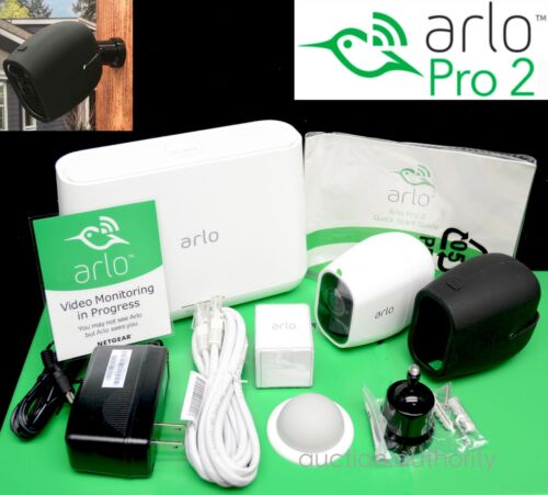 COMPLETE NEW ARLO PRO 2 Netgear 1080p HD Wireless Security Camera Kit /& EXTRAS