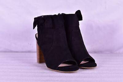Fergie Monica Peep Toe Booties, Black