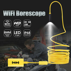 8LED-WiFi-Endoscope-Borescope-Inspection-HD-1200P-Camera-IP68-For-iOS-Android-PC