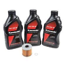 Oil Change Kit KAWASAKI KLR650 1987-2017 3 Quarts Kawasaki 10W-40 Oil And Filter