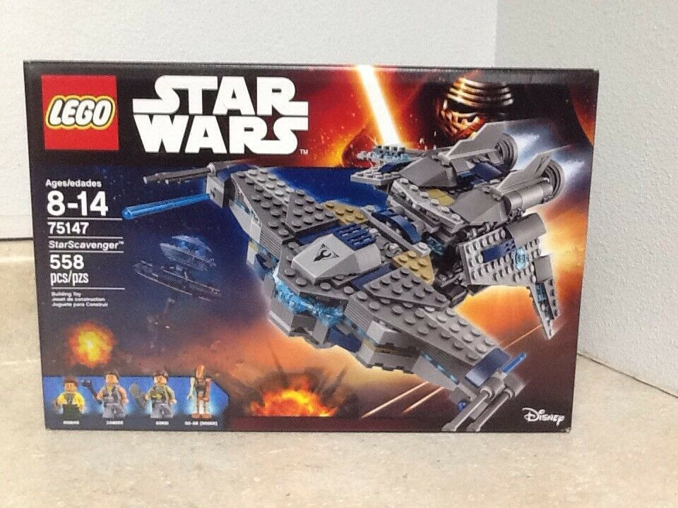 Lego Star Wars Star Scavenger 75147  With 4 Minifigs