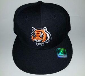 01a867254 Image is loading REEBOK-NFL-Cincinnati-Bengals-3D-embroidered-black-hat-