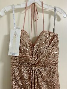 New With Tags Rose Gold Formal Dress Alfred Angelo Aus Uk 11 Eu 35 Ebay