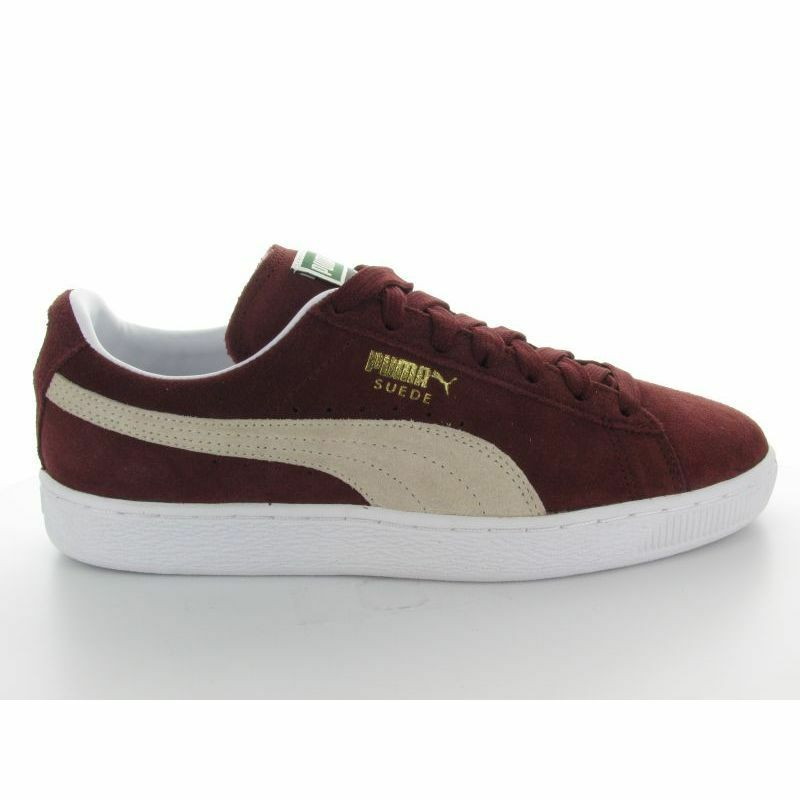 Cheap Nice SUEDE CLASSIC BORDEAUX WHITE on the sale