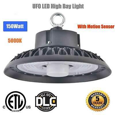 2PCS UFO Motion Sensor LED High Bay Light 400W HPS//MH Warehouse Shop Lighting