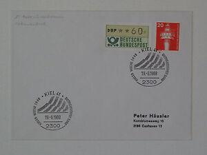 (g496) Bund, Brd Atm 1 Lettre, Preuve Déplacé Netzunterdruck Sst Kiel 1988-afficher Le Titre D'origine Avoir Une Longue Position Historique