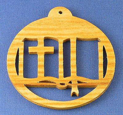 Open Bible Christmas Ornament - hand cut