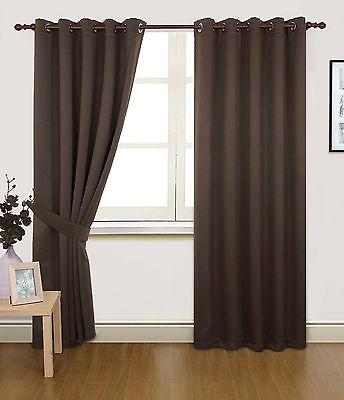 """""""Alaska""""  Ring Top Eyelet Designer Semi Blackout Dimout Thermal Curtains"""