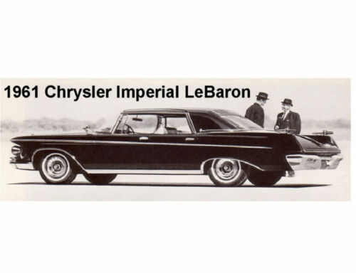 1961 Chrysler Imperial LeBaron Auto Refrigerator / Tool Box Magnet