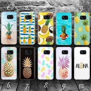 brand new 2ed4a 547f6 Details about PINEAPPLE A SUMMER FRUIT ALOHA GEL Samsung S5 S6 S7 S8 S9  Edge + plus case cover