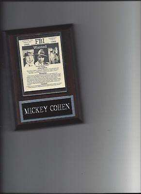 MICKEY COHEN PLAQUE MAFIA ORGANIZED CRIME MOBSTER MOB RARE!!!