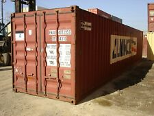Used 40 High Cube Steel Storage Container Shipping Cargo Conex Seabox Houston