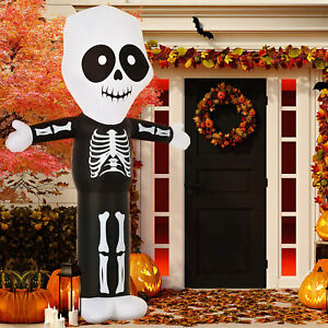 10ft Halloween Inflatable Skeleton Ghost Decoration Lighted for Indoor Outdoor
