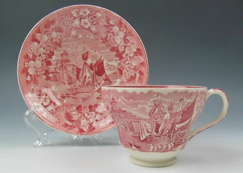 s VERY GOOD Wedgwood China FERRARA-PINK Cup and Saucer Set