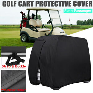 4-Passenger-Waterproof-Golf-Buggy-Cart-Cover-Storage-For-EZ-GO-Club-Car-Yamaha