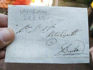 1841-PREFILATELICA-DA-LAVARONE-IN-TRENTINO-A-BRESCIA-CON-TESTO