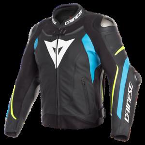 Dainese-Super-Speed-3-Leather-Jacket-Black-Blue-Yellow-Motorcycle-Jacket-NEW