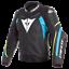 Dainese-Super-Speed-3-Leather-Jacket-Black-Blue-Yellow-Motorcycle-Jacket-NEW miniature 1