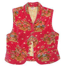 Oilily Weste Spencer rot 36 original roter Samt mit Muster toll