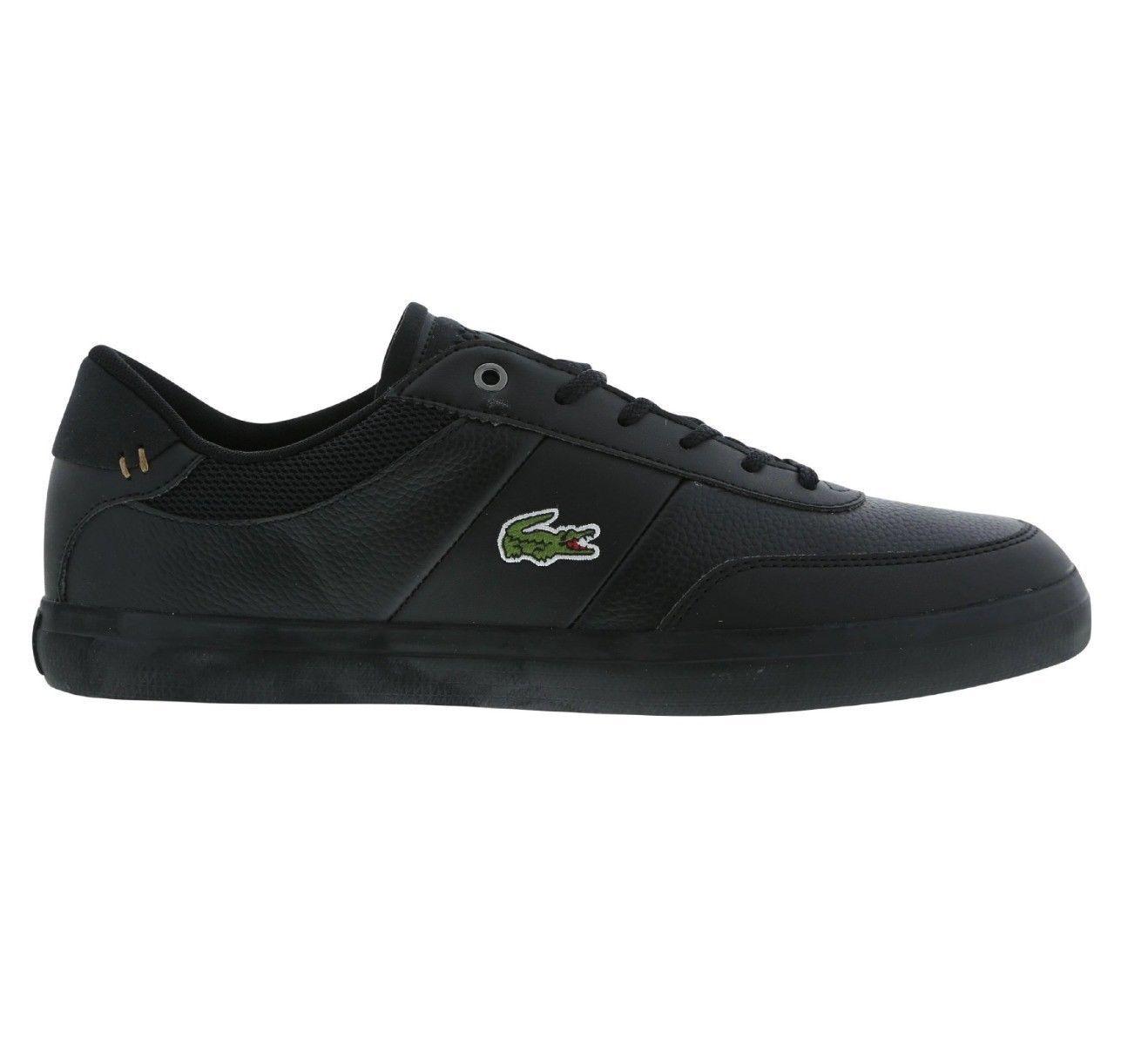 Lacoste Cour Master 4171FLE Cam Cam Cam Homme Sneaker Chaussures en cuir-Noir | Matière Choisie  22527f