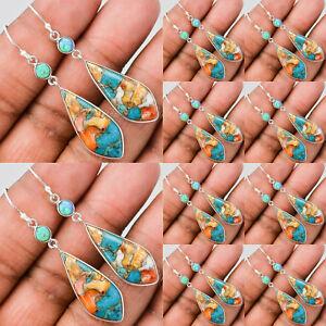 Turquoise-Dangle-Engagement-Women-Silver-Bridal-Wedding-Vintage-Drop-Earring