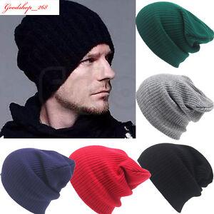 a168964f6ba Men s Womens Couple Beanie Knit Cap Ski Hip-Hop Warm Unisex Wool ...