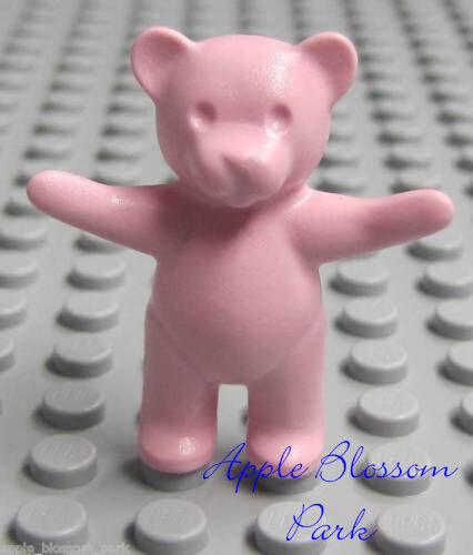 NEW Lego Friends PINK TEDDY BEAR Girl Boy Minifig Belville Scala Toy Animal