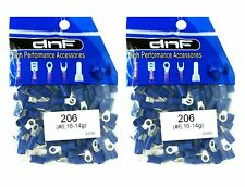 (200 PACK) 16-14 GAUGE BLUE RING TERMINALS ELECTRICAL WIRE CONNECTORS #6