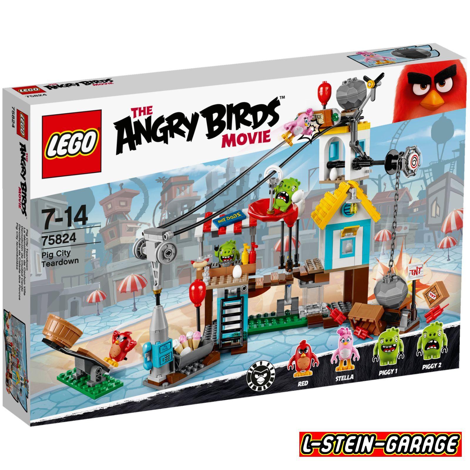 LEGO® Angry Birds™ 75824 Pig City Teardown Neu & OVP
